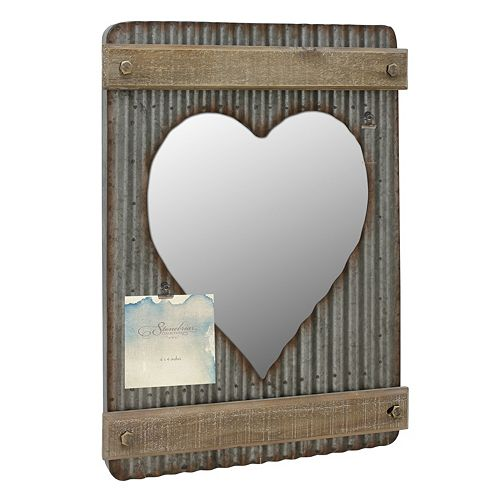 Stonebriar Collection Photo Clip Heart Wall Mirror