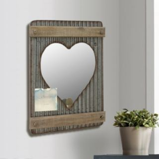 Stonebriar Collection Photo Clip Heart Wall Mirror