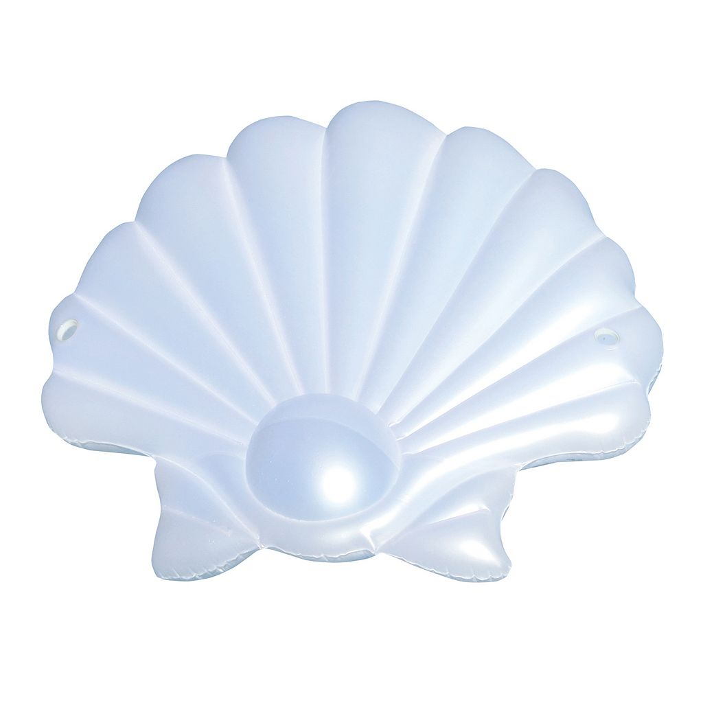 Blue Wave Seashell 83-in Inflatable Floating Island Pool Float