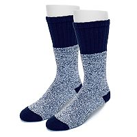 Extended Size Croft & Barrow® 2-pack Marled Crew Socks