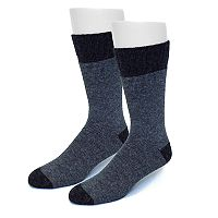 Extended Size Croft & Barrow® 2-pack Wool-Blend Boot Socks