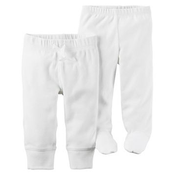 Baby Carter's Babysoft Open & Footed Ribbed Pants Set