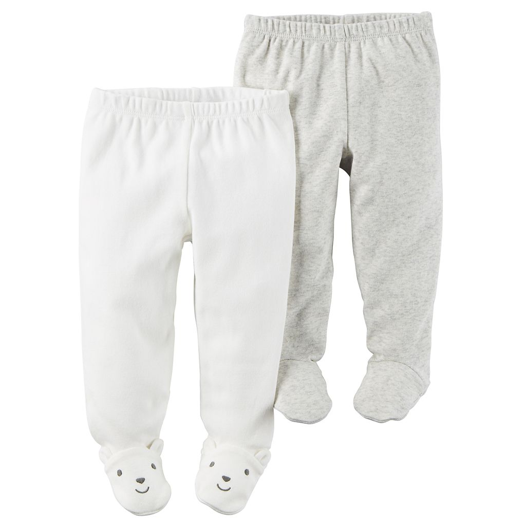 Baby Carter's 2-pk. Footed Pants