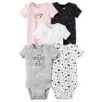 Baby Girl Carter's 5 pkPrint & Graphic Bodysuits