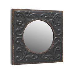 Stonebriar Collection Metal Square Wall Mirror