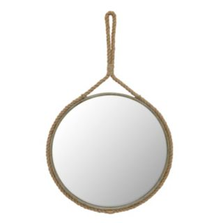 Stonebriar Collection Round Rope Wall Mirror