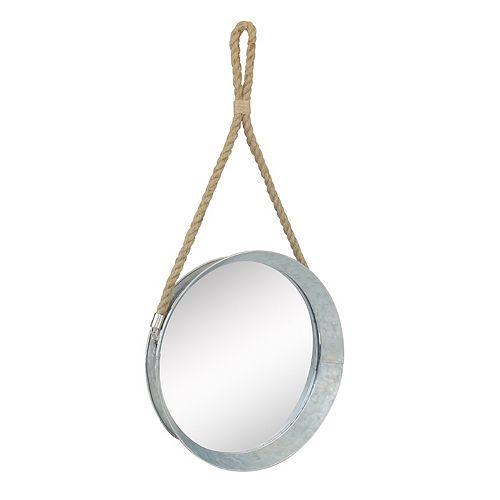 Stonebriar Collection Galvanized Metal Wall Mirror