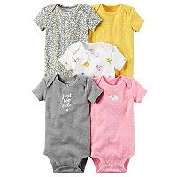 Baby Girl Carter's 5 pkFloral, Dot & Graphic Bodysuits
