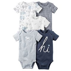 Baby Boy Carter's 5-pk. Short Sleeve Bodysuits