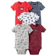 Baby Boy Carter's 5-pk. Short Sleeve Sport Bodysuits