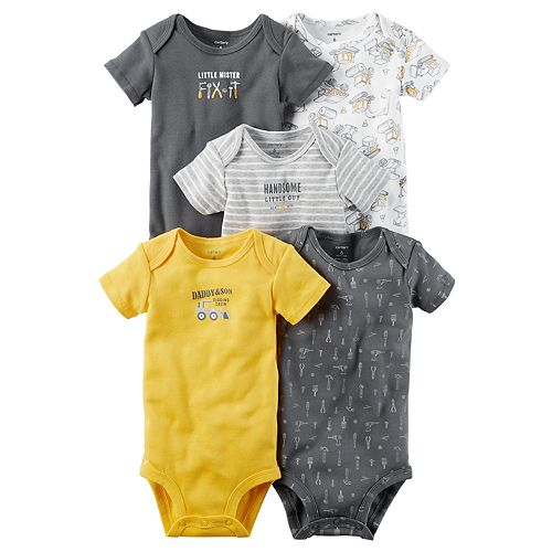 Baby Boy Carter's 5-pk. Construction Bodysuits