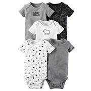 Baby Boy Carter's 5 pkBear Bodysuits