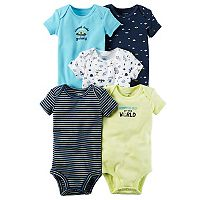 Baby Boy Carter's 5-pk. Short Sleeve Alien & Outerspace Bodysuits
