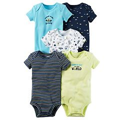 Baby Boy Carter's 5 pkShort Sleeve Alien & Outerspace Bodysuits