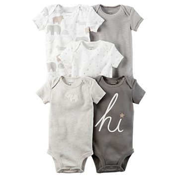 Baby Carter's 5-pk. Short Sleeve Bodysuits