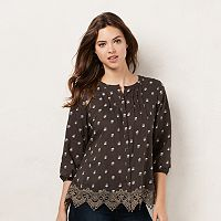Women's LC Lauren Conrad Lace Peasant Top