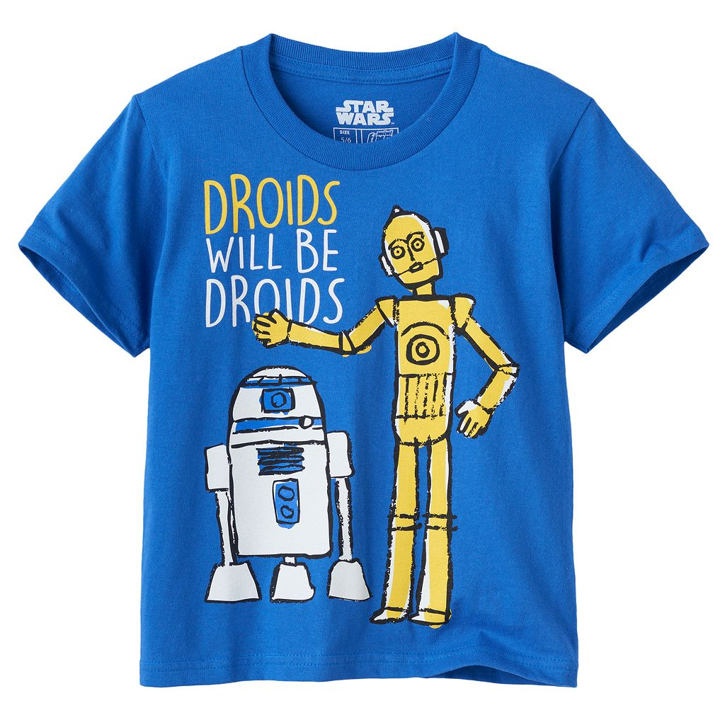 Boys 4-7 Star Wars: Episode VII The Force Awakens R2D2 & C3PO Graphic Tee