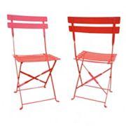 Malibu Outdoor Folding Chair 2 pc Set