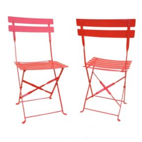 Malibu Outdoor Folding Chair 2-piece Set