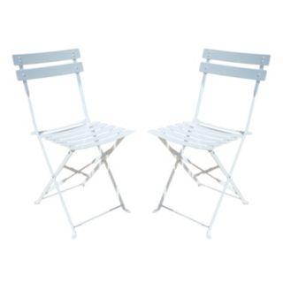 Malibu Outdoor Folding Chair 2-piece Set