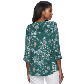 Women's Croft & Barrow® Print Crepe Top