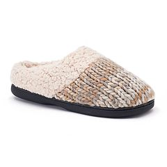 Women's Dearfoams Chunky Space-Dyed Knit Clog Slippers