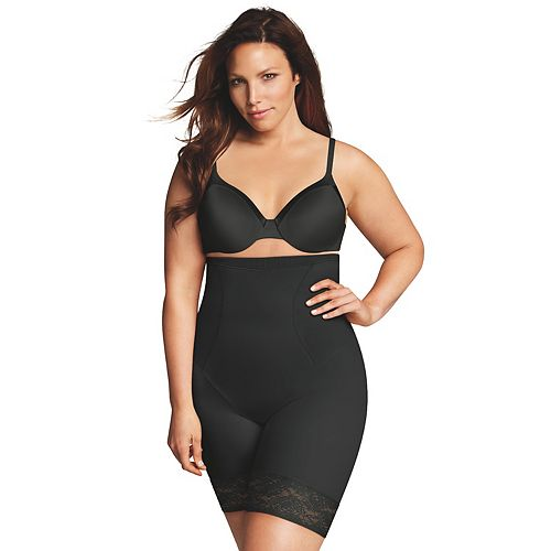 c2ceb66c5b2 Plus Size Maidenform Shapewear Curvy Firm High-Waist Thigh Slimmer DM1024