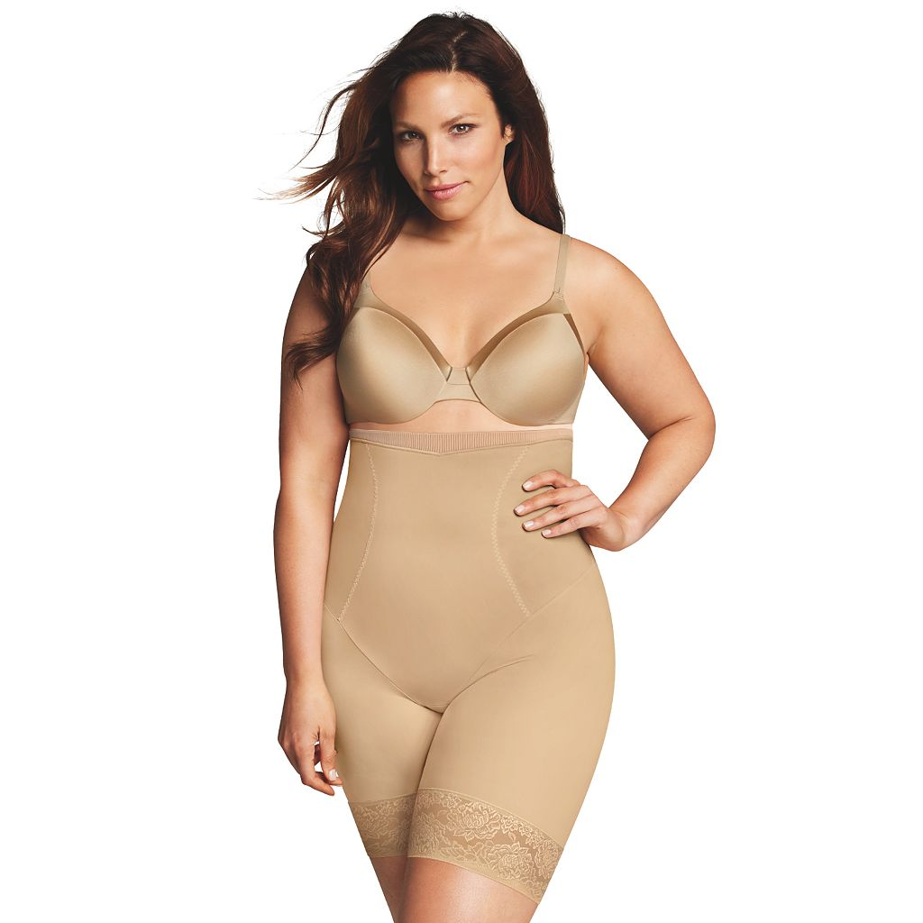 Plus Size Maidenform Shapewear Curvy Firm High-Waist Thigh Slimmer DM1024