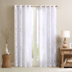 Madison Park Vina Sheer Bird Curtain