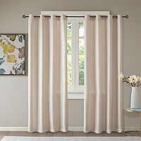 Madison Park Essentials Elias Jacquard Window Curtain Set