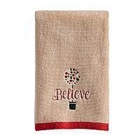 St. Nicholas Square® Ensembles Believe Fingertip Towel