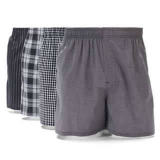 Men's Gildan 4-pack Platinum Boxers