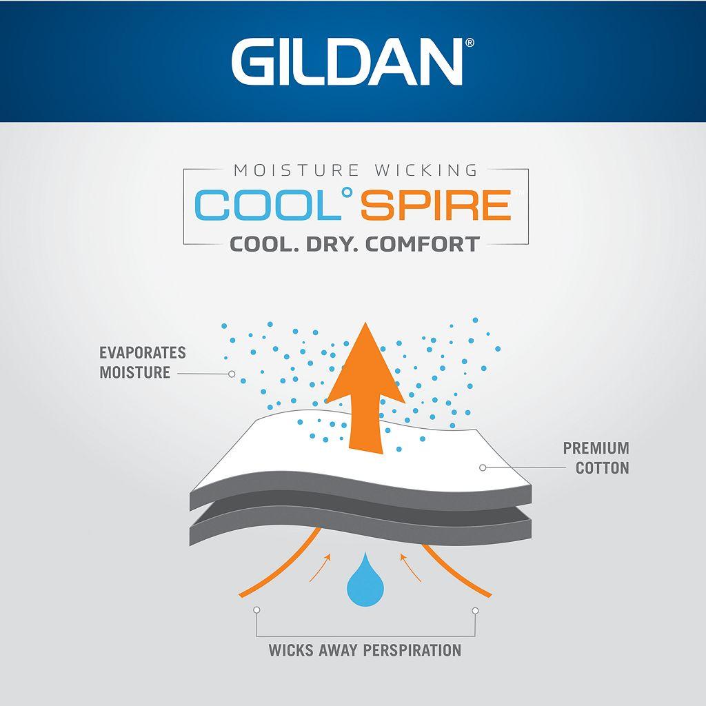 Men's Gildan 4-pack Platinum Cool Spire Crewneck Tees