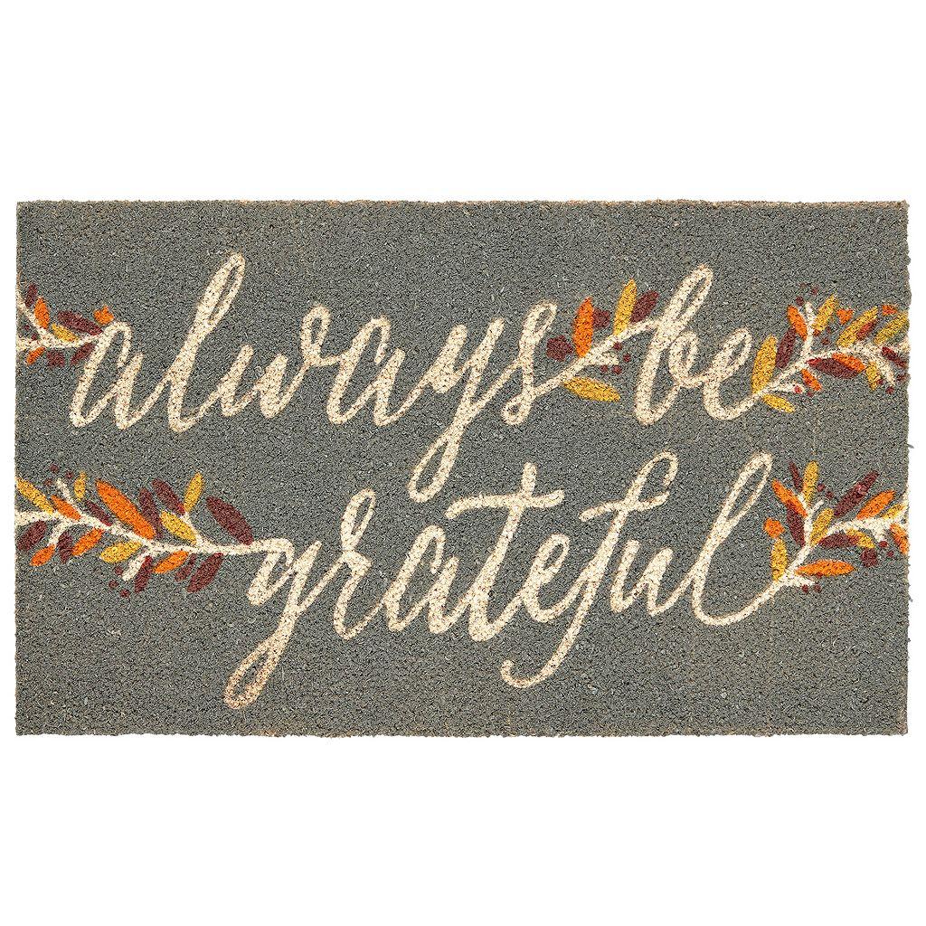 Mohawk® Home ''Always Be Grateful'' Coir Doormat - 18'' x 30''