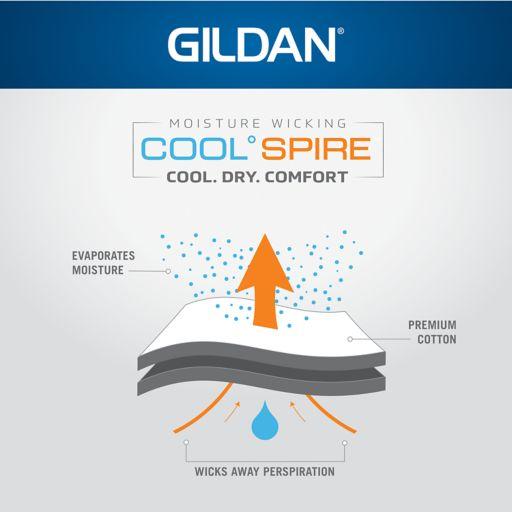 Men's Gildan 4-pack Platinum Cool Spire A-Shirts