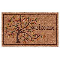 Mohawk® Home Swirly Fall Tree ''Welcome'' Coir Doormat - 18'' x 30''