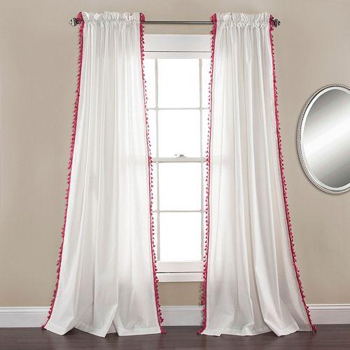 Lush Decor 2-pack Urban Tassel Window Curtain
