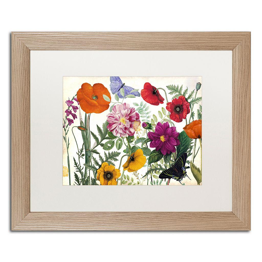 Trademark Fine Art Printemps I Washed Finish Framed Wall Art