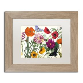 Trademark Fine Art Printemps I Washed Finish Framed Wall Art