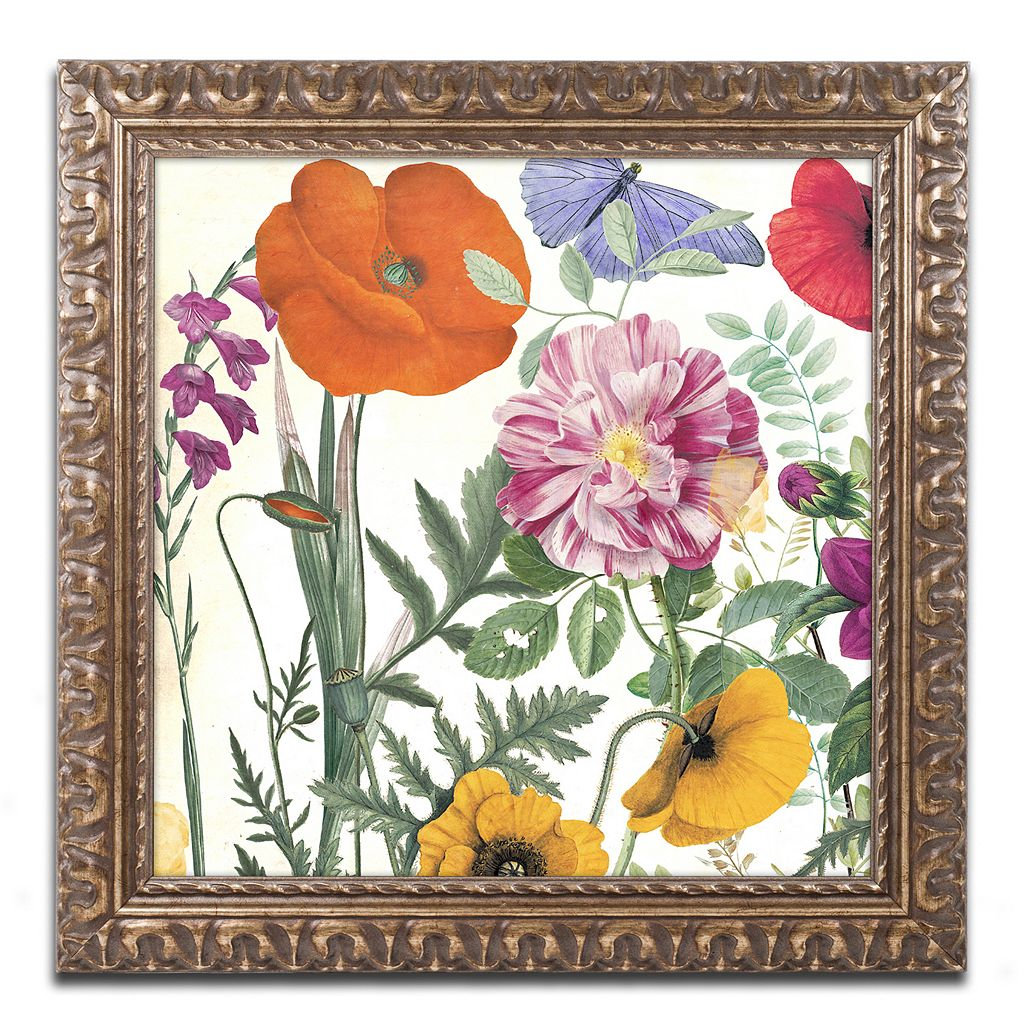 Trademark Fine Art Printemps II Ornate Framed Wall Art