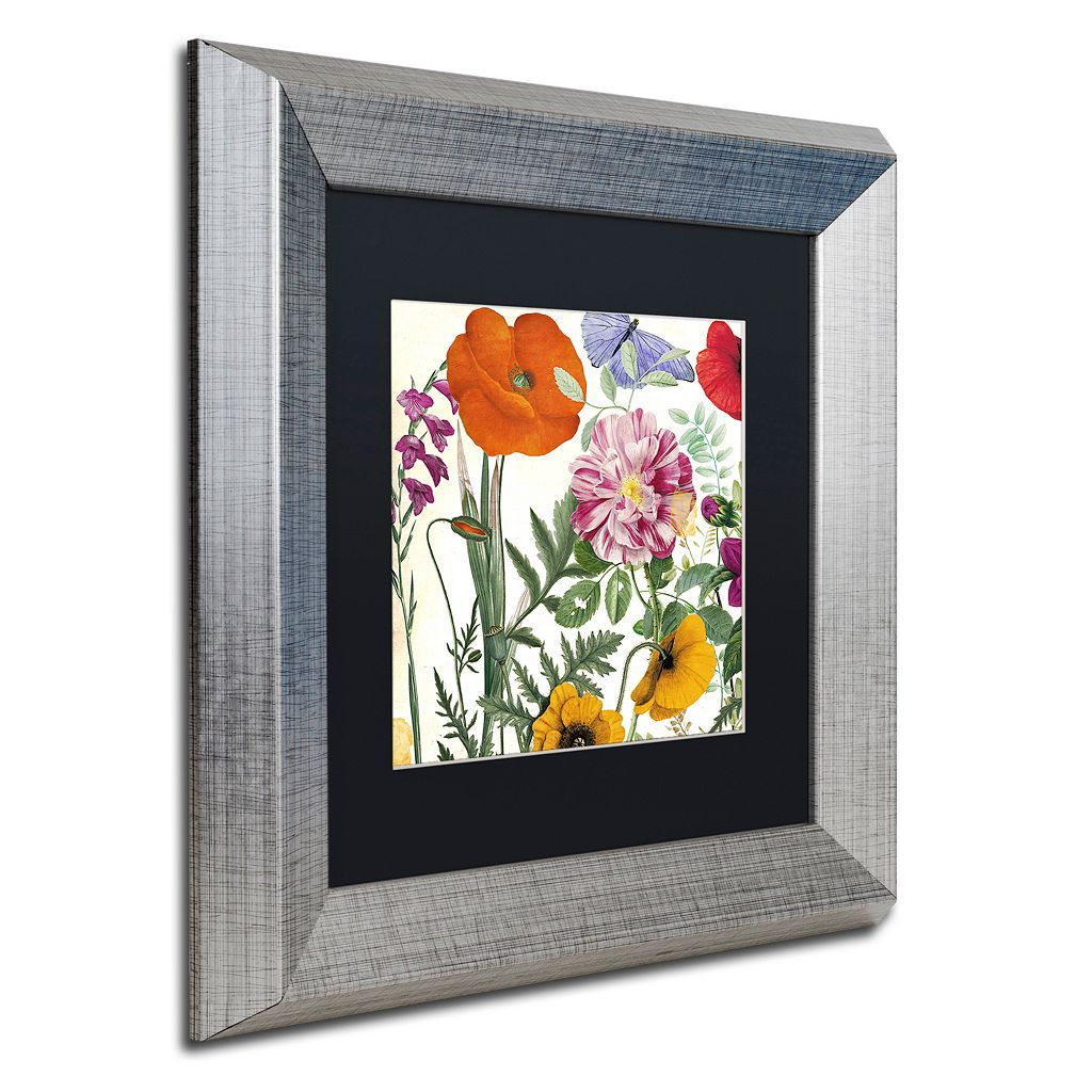 Trademark Fine Art Printemps II Silver Finish Framed Wall Art