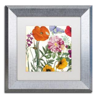 Trademark Fine Art Printemps II Silver Finish Framed Wall Art