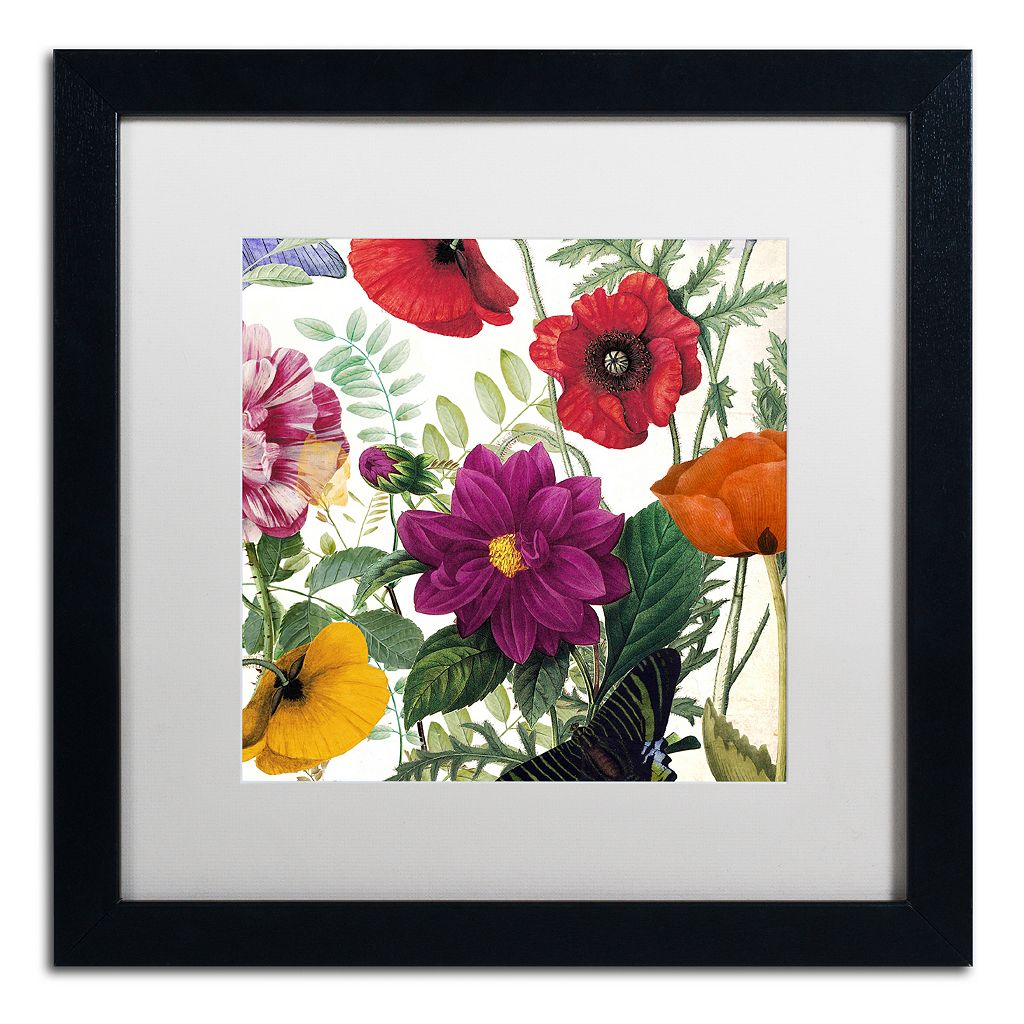Trademark Fine Art Printemps III Black Framed Wall Art