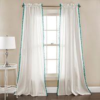 Lush Decor 2-pack Linen Pom Pom Curtain