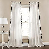 Lush Decor 2-pack Linen Pom Pom Curtain