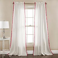 Lush Decor 2-pack Linen Pom Pom Window Curtain