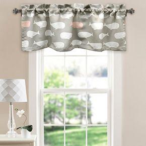 Half Moon Whale Room Darkening Window Valance