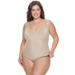 Plus Size Red Hot by Spanx Flipside Firming Bodysuit 10137P