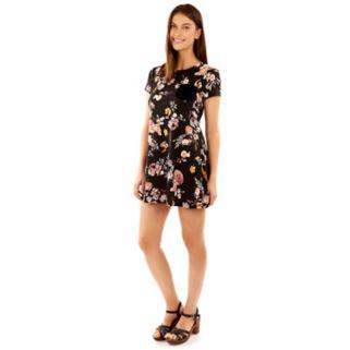 Juniors' Wallflower Velvet Pocket T-Shirt Dress