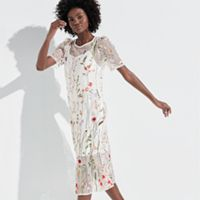 k/lab Embroidered Garden Floral Midi Dress